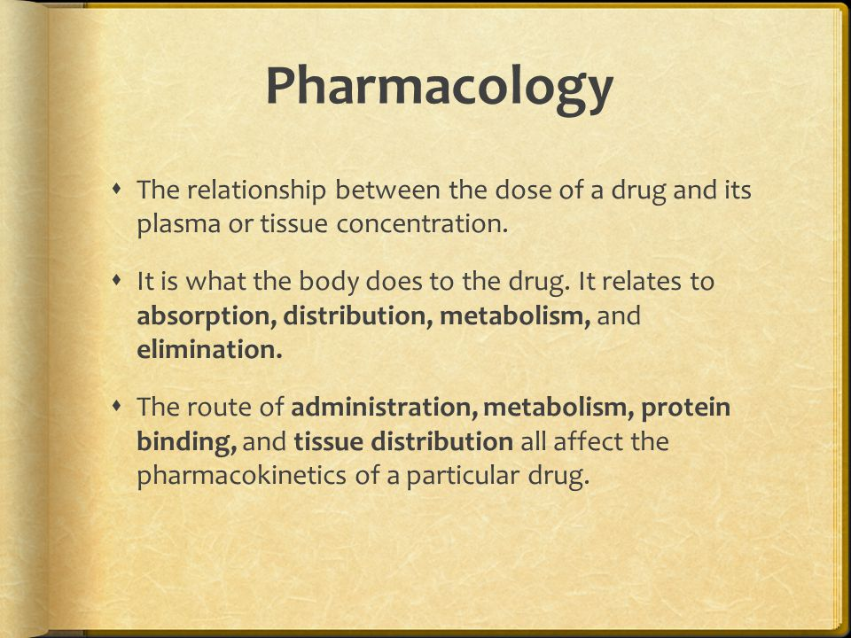 Pharmacology  The relationship between the dose of a drug and its plasma or tissue concentration.