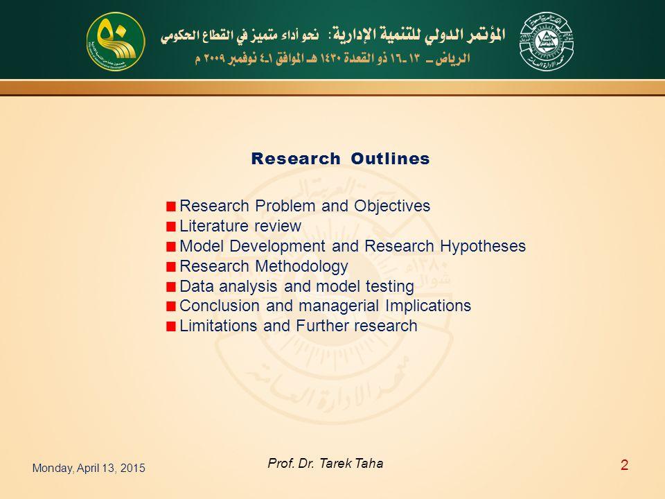 Monday, April 13, 2015 2 Prof. Dr.