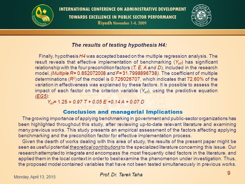 Monday, April 13, 2015 9 Prof. Dr.