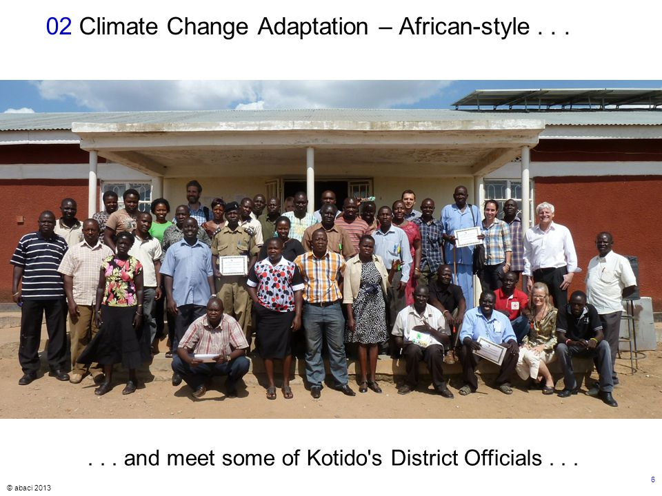 © abaci 2013 6 02 Climate Change Adaptation – African-style......