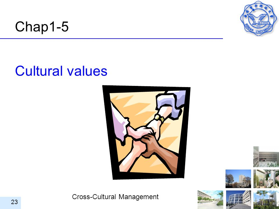Cross-Cultural Management 23 Cultural values Chap1-5