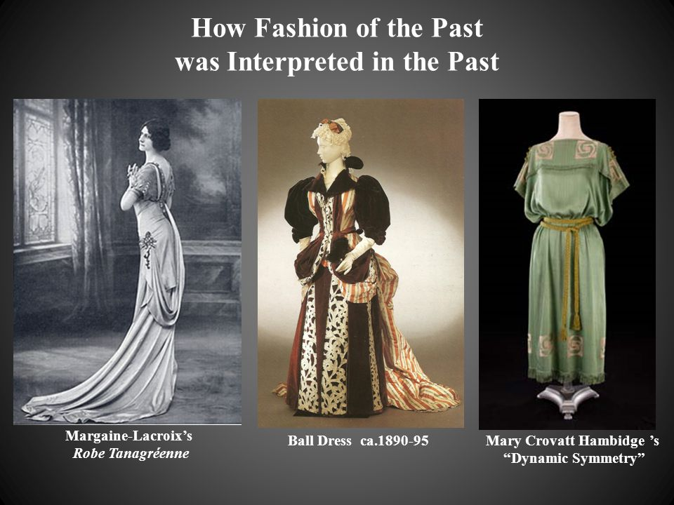 "How Fashion of the Past was Interpreted in the Past Margaine-Lacroix's Robe Tanagréenne Mary Crovatt Hambidge 's ""Dynamic Symmetry"" Ball Dress ca.1890"