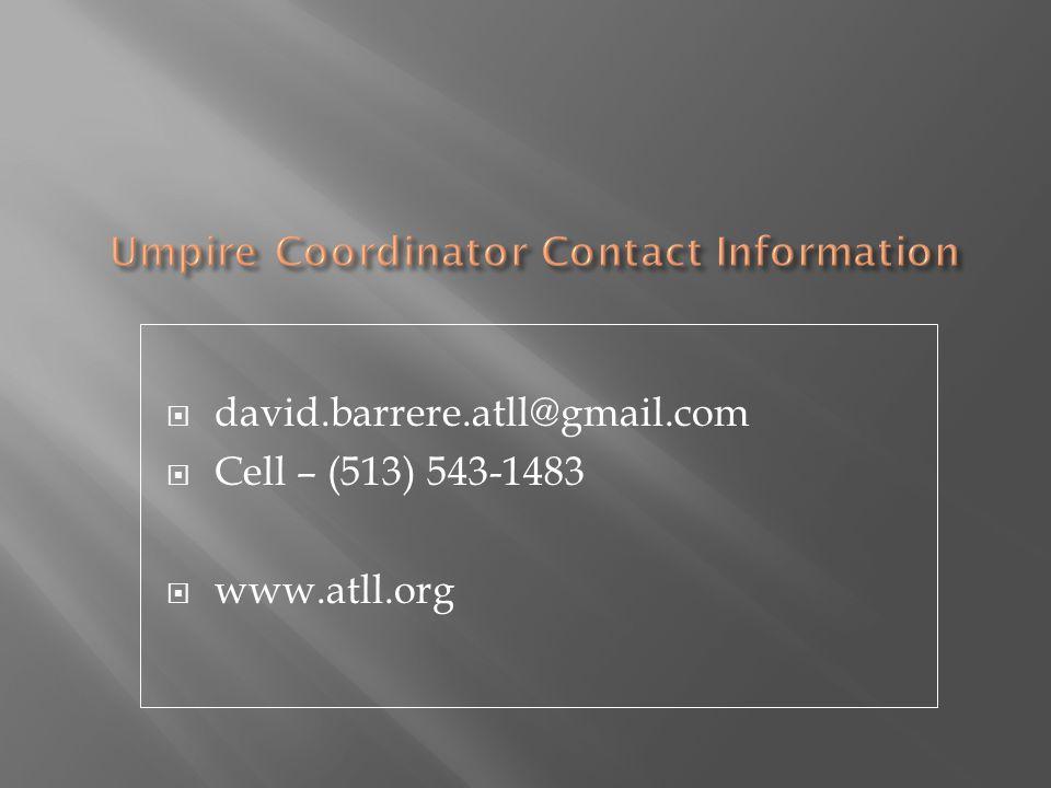  david.barrere.atll@gmail.com  Cell – (513) 543-1483  www.atll.org