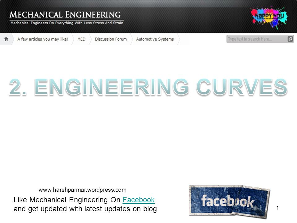 Like Mechanical Engineering On Facebook and get updated with latest updates on blogFacebook www.harshparmar.wordpress.com 1
