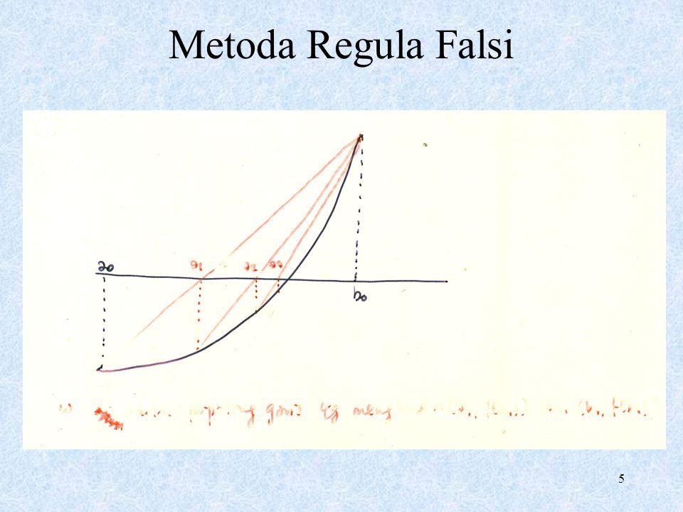 5 Metoda Regula Falsi