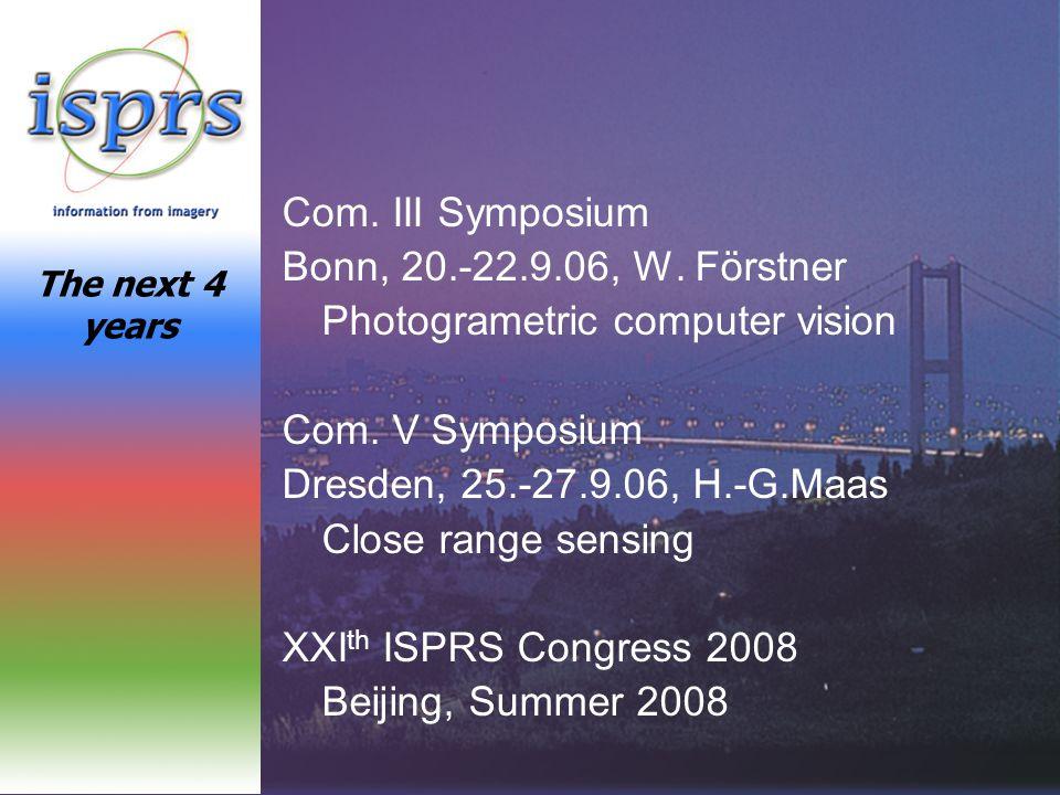 Com.III Symposium Bonn, 20.-22.9.06, W. Förstner Photogrametric computer vision Com.