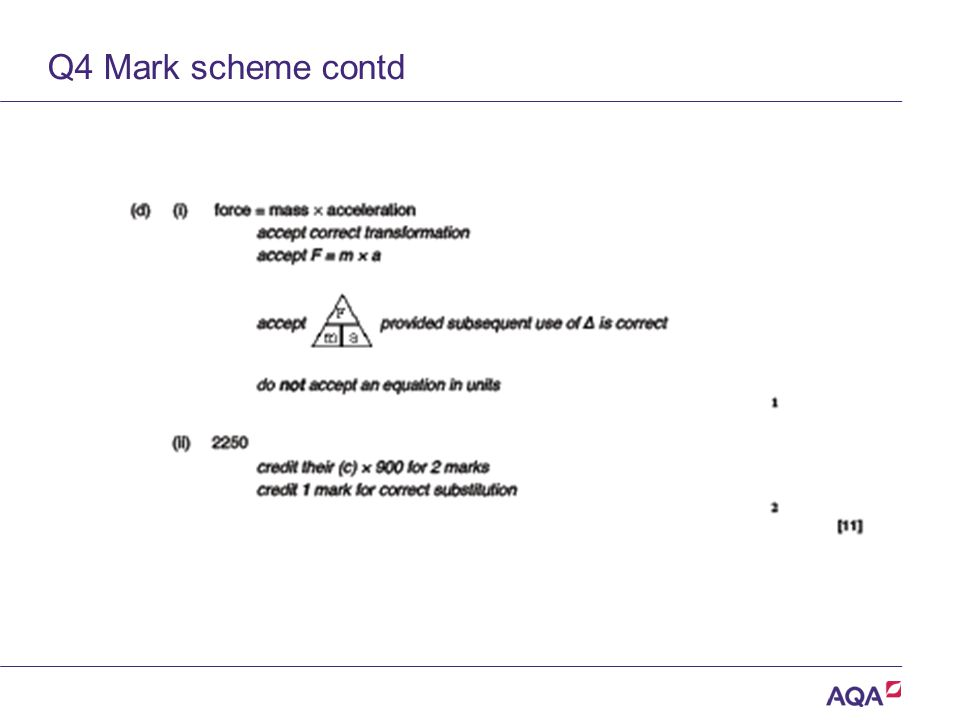 Q4 Mark scheme contd Version 2.0 Copyright © AQA and its licensors. All rights reserved.