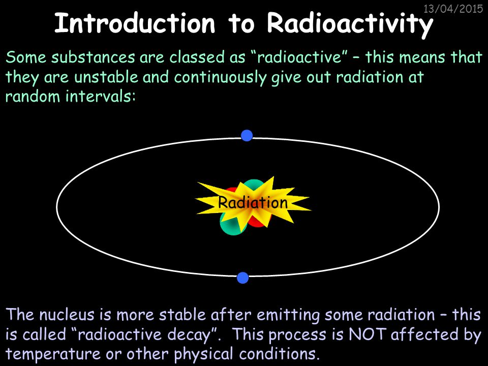 13/04/2015 P2.5.2 – Atoms and Radiation