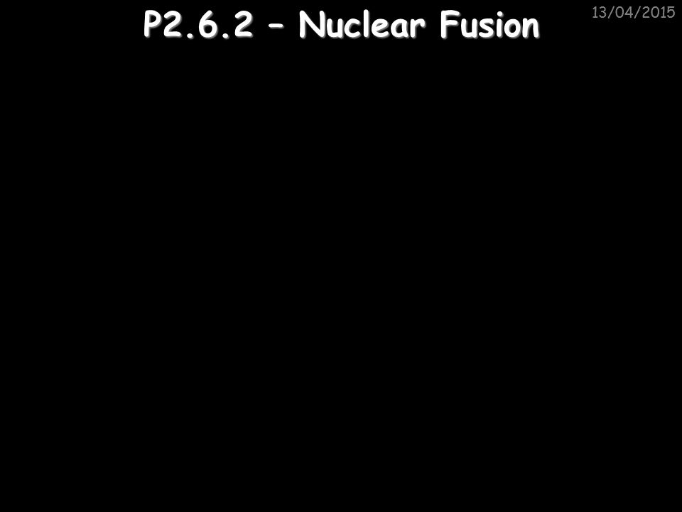 13/04/2015 Nuclear power stations Nuclear power stations use the energy from each reaction to heat water and use the steam to drive turbines: