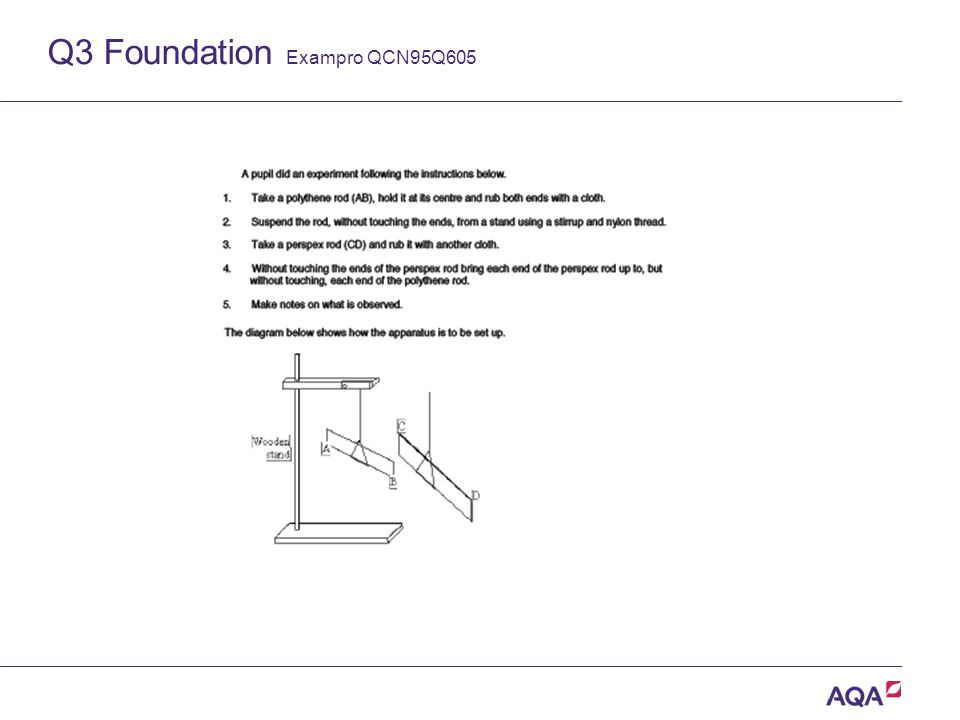 Q3 Foundation Exampro QCN95Q605 Version 2.0 Copyright © AQA and its licensors. All rights reserved.