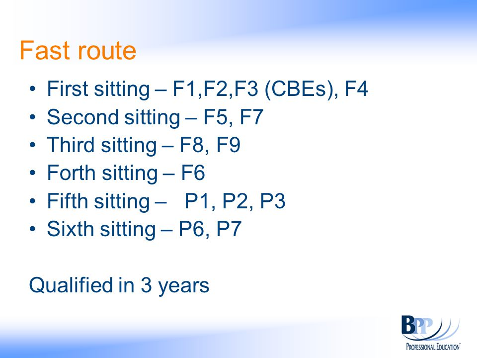 Fast route First sitting – F1,F2,F3 (CBEs), F4 Second sitting – F5, F7 Third sitting – F8, F9 Forth sitting – F6 Fifth sitting – P1, P2, P3 Sixth sitt