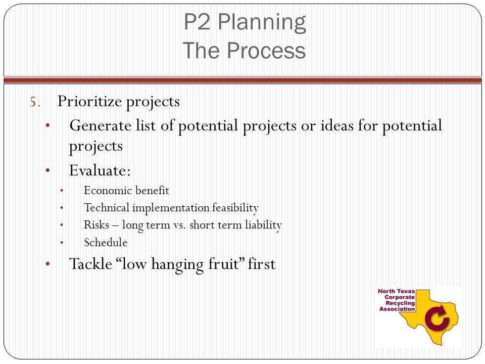 P2 Planning The Process 5.