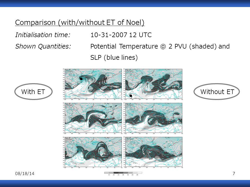 08/18/148 With ET Without ET 108 h 156 h 192 h