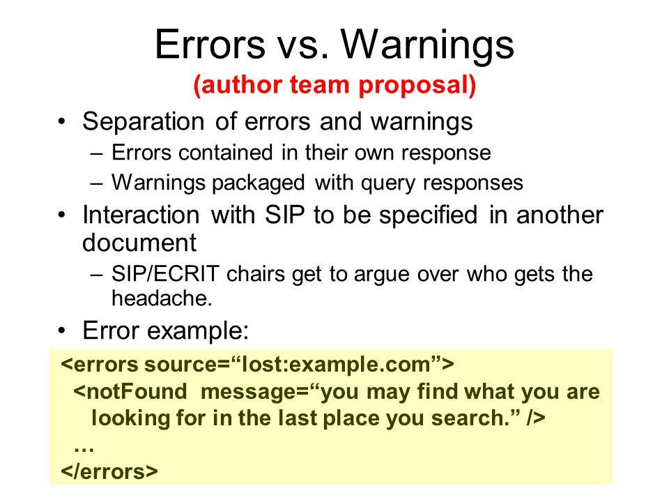 Errors vs.
