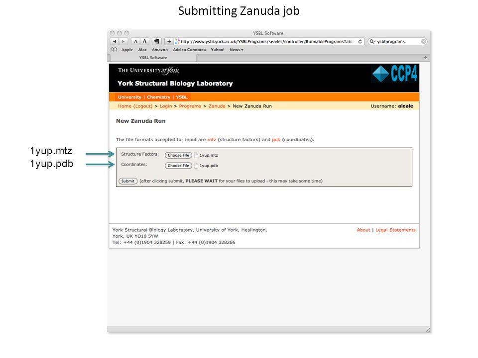 Submitting Zanuda job 1yup.mtz 1yup.pdb