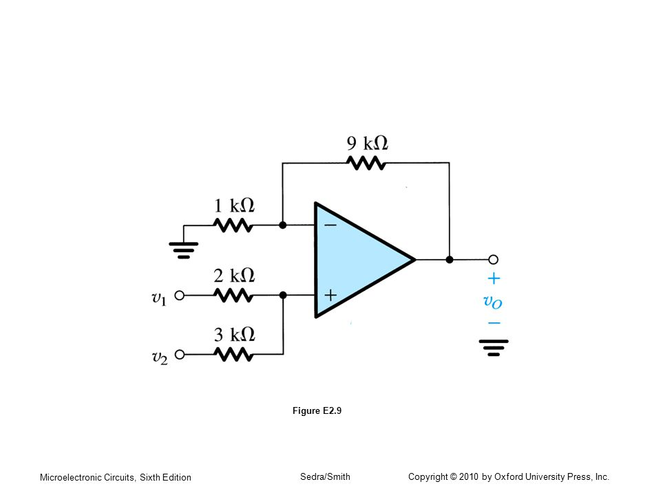 Microelectronic Circuits, Sixth Edition Sedra/Smith Copyright © 2010 by Oxford University Press, Inc. Figure E2.9
