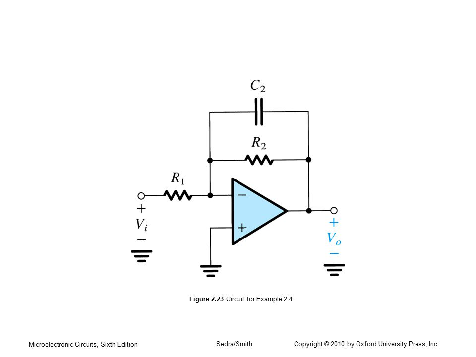 Microelectronic Circuits, Sixth Edition Sedra/Smith Copyright © 2010 by Oxford University Press, Inc. Figure 2.23 Circuit for Example 2.4.