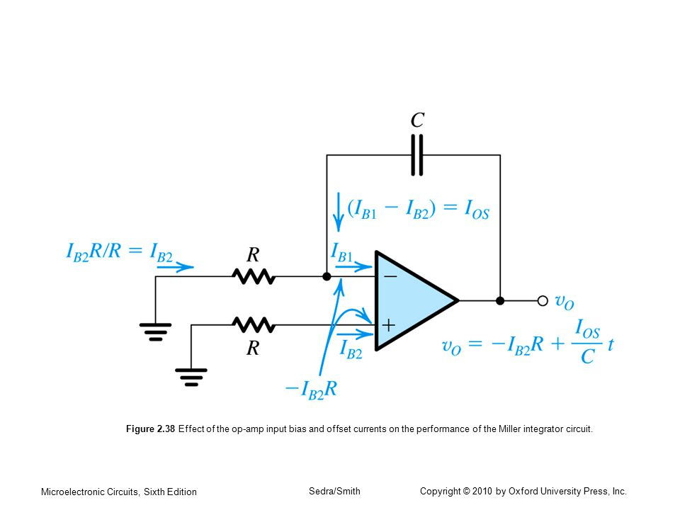Microelectronic Circuits, Sixth Edition Sedra/Smith Copyright © 2010 by Oxford University Press, Inc. Figure 2.38 Effect of the op-amp input bias and