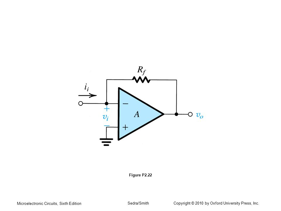 Microelectronic Circuits, Sixth Edition Sedra/Smith Copyright © 2010 by Oxford University Press, Inc. Figure P2.22