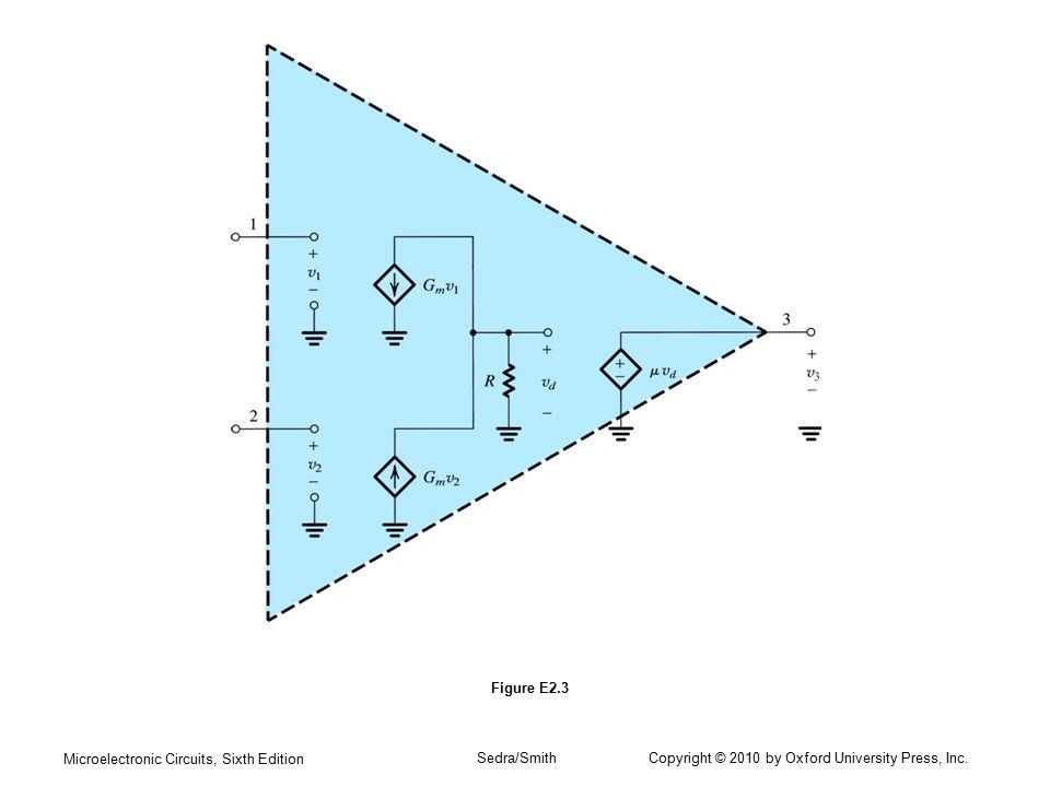 Microelectronic Circuits, Sixth Edition Sedra/Smith Copyright © 2010 by Oxford University Press, Inc. Figure E2.3