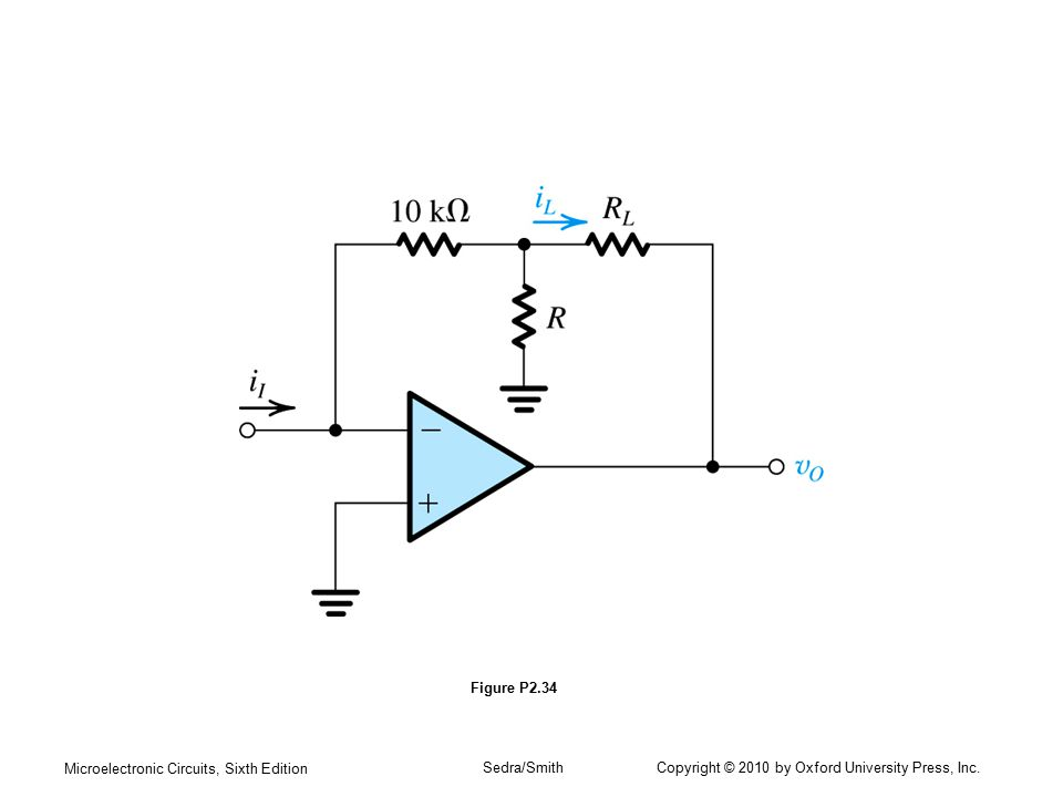 Microelectronic Circuits, Sixth Edition Sedra/Smith Copyright © 2010 by Oxford University Press, Inc. Figure P2.34