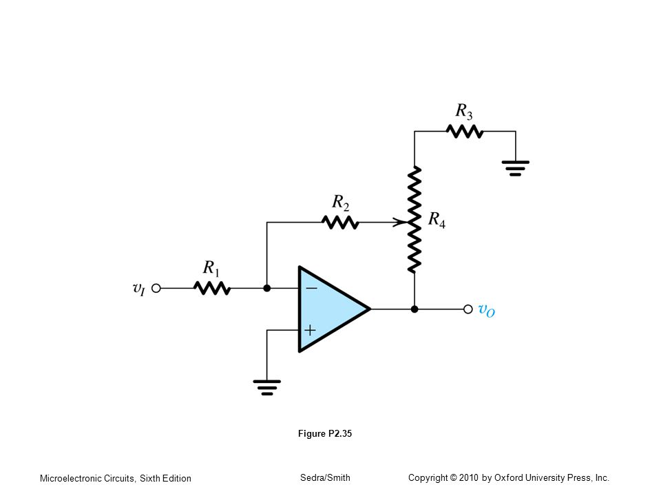 Microelectronic Circuits, Sixth Edition Sedra/Smith Copyright © 2010 by Oxford University Press, Inc. Figure P2.35