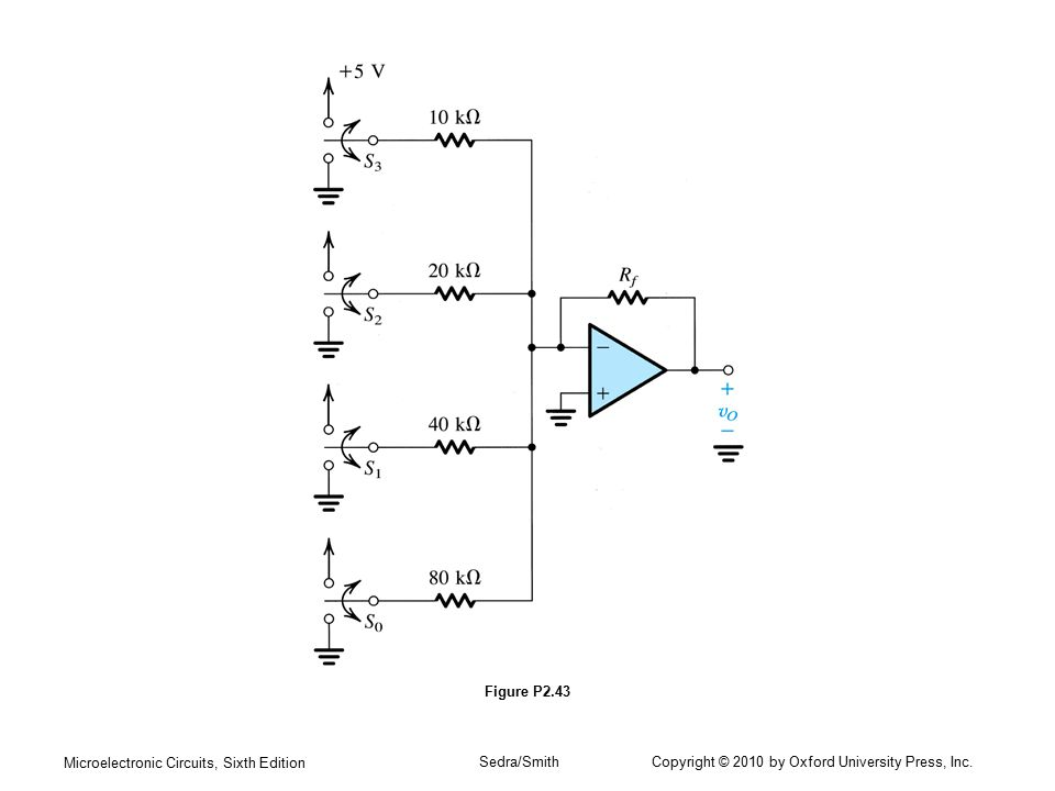 Microelectronic Circuits, Sixth Edition Sedra/Smith Copyright © 2010 by Oxford University Press, Inc. Figure P2.43