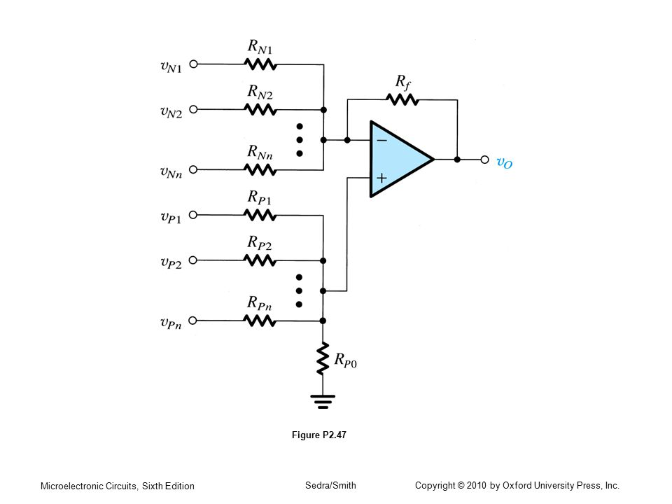 Microelectronic Circuits, Sixth Edition Sedra/Smith Copyright © 2010 by Oxford University Press, Inc. Figure P2.47