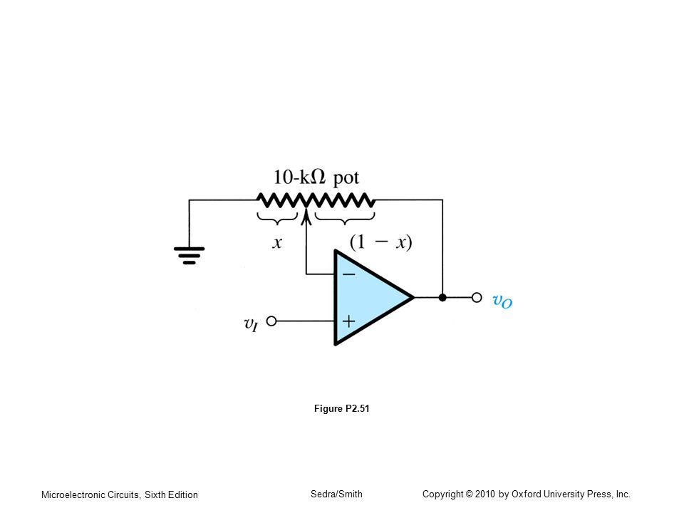 Microelectronic Circuits, Sixth Edition Sedra/Smith Copyright © 2010 by Oxford University Press, Inc. Figure P2.51