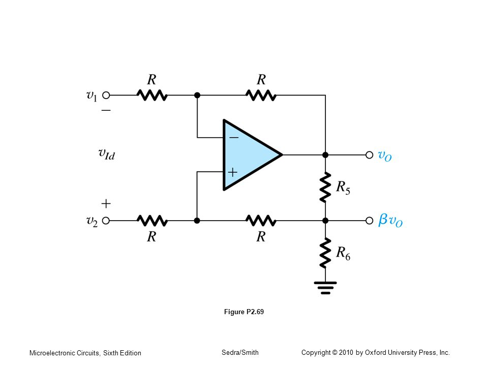 Microelectronic Circuits, Sixth Edition Sedra/Smith Copyright © 2010 by Oxford University Press, Inc. Figure P2.69