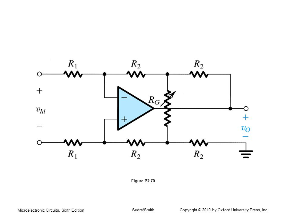 Microelectronic Circuits, Sixth Edition Sedra/Smith Copyright © 2010 by Oxford University Press, Inc. Figure P2.70