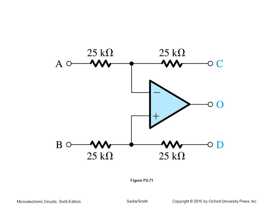 Microelectronic Circuits, Sixth Edition Sedra/Smith Copyright © 2010 by Oxford University Press, Inc. Figure P2.71