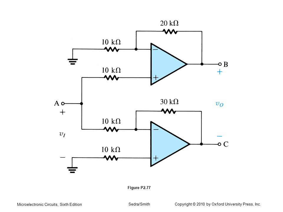 Microelectronic Circuits, Sixth Edition Sedra/Smith Copyright © 2010 by Oxford University Press, Inc. Figure P2.77