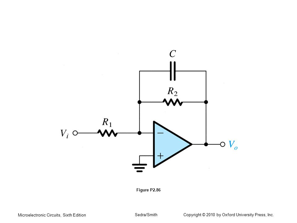 Microelectronic Circuits, Sixth Edition Sedra/Smith Copyright © 2010 by Oxford University Press, Inc. Figure P2.86