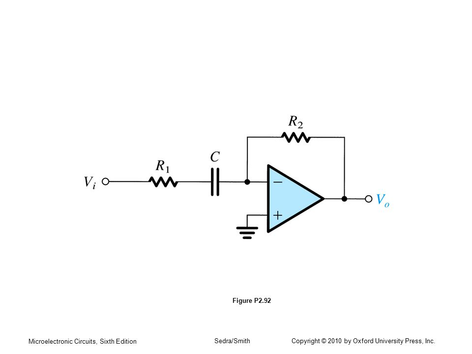 Microelectronic Circuits, Sixth Edition Sedra/Smith Copyright © 2010 by Oxford University Press, Inc. Figure P2.92