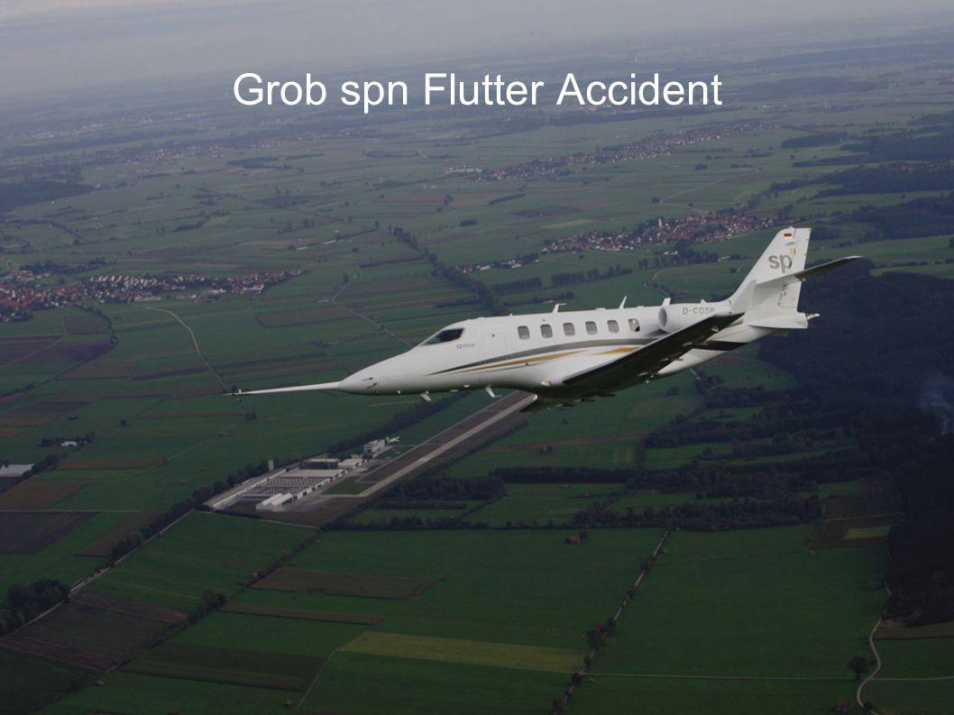 Grob spn Flutter Accident European Flight Test Safety Workshop, Sept 28-29th 2010, London, UK 12 P2 GVT data received 12.12.2006 Asymmetric damping curve F = Curve of elevator tip vibration against trim tab.