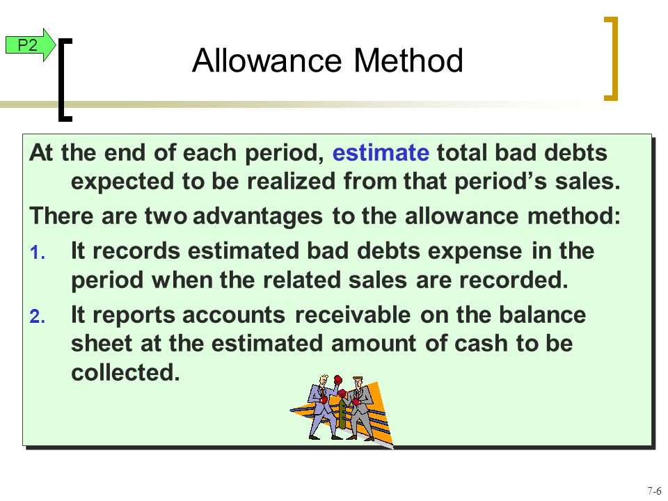 At the end of each period, estimate total bad debts expected to be realized from that period's sales.