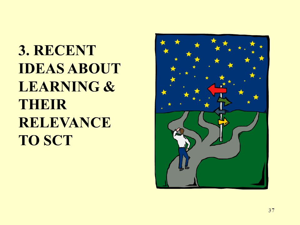 3. RECENT IDEAS ABOUT LEARNING & THEIR RELEVANCE TO SCT 37