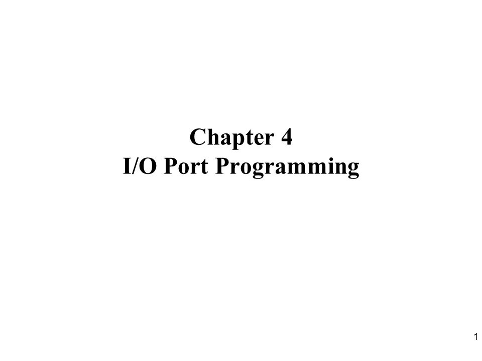 22 Writing 1 to Output Pin P1.X D Q Clk Q Vcc Load(L1) Read latch Read pin Write to latch Internal CPU bus M1 P1.X pin P1.X 8051 IC 2.