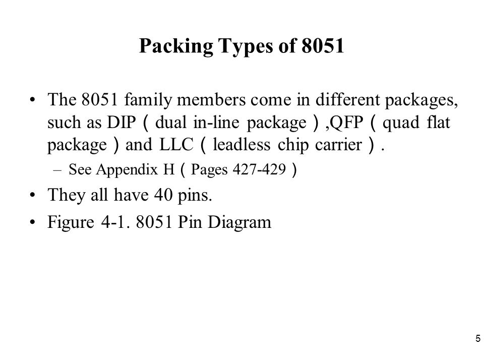 36 Other Pins P1, P2, and P3 have internal pull-up resisters.