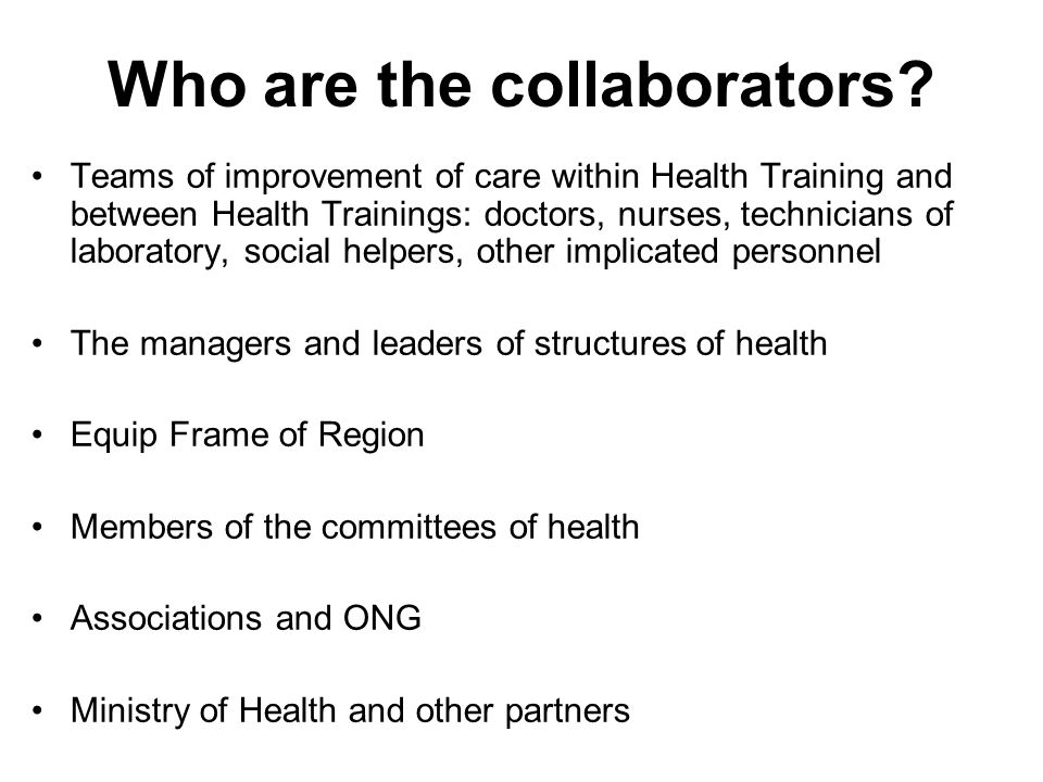 Who are the collaborators.