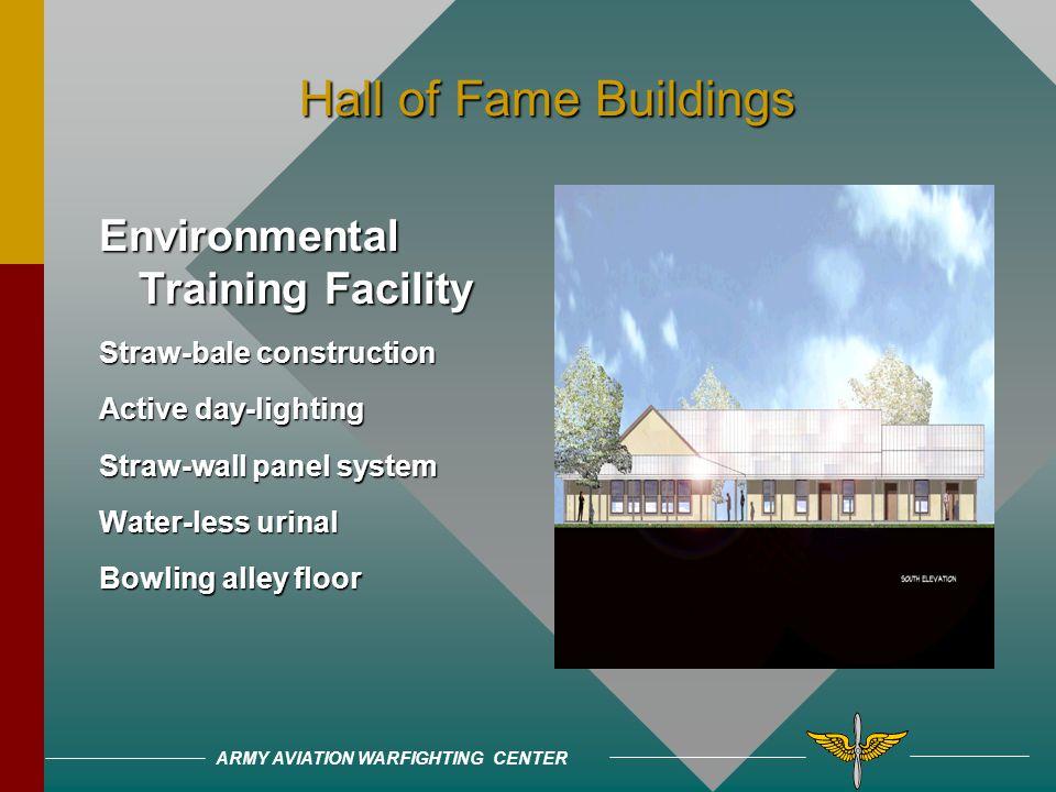 ARMY AVIATION WARFIGHTING CENTER Hall of Fame Buildings Hall of Fame Buildings ING Bank 80% Utility Savings Multidiscipline Team Developed Design for