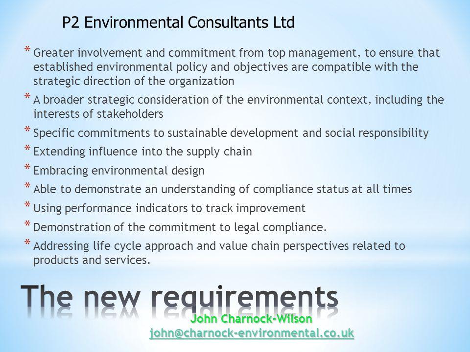 John Charnock-Wilson john@charnock-environmental.co.uk john@charnock-environmental.co.uk * official target for publication of the new standard is January 2015.