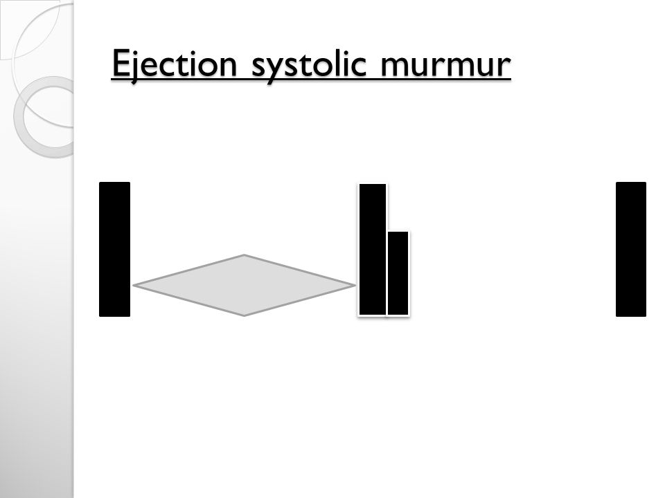 Ejection systolic murmur