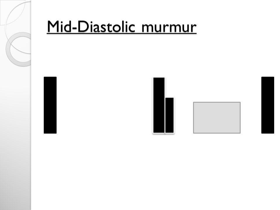 Mid-Diastolic murmur