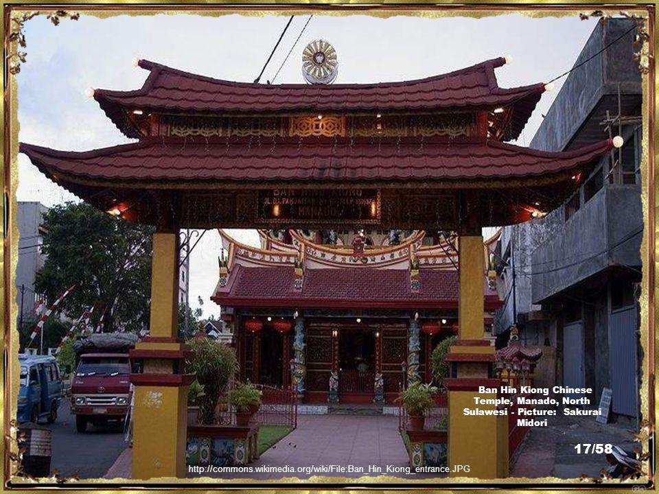 http://commons.wikimedia.org/wiki/File:Kwan_Seng_Ta_Tie_Manado.JPG Kwan Seng Ta Tie Chinese Temple, Manado, North Sulawesi - Picture: Sakurai Midori 16/58