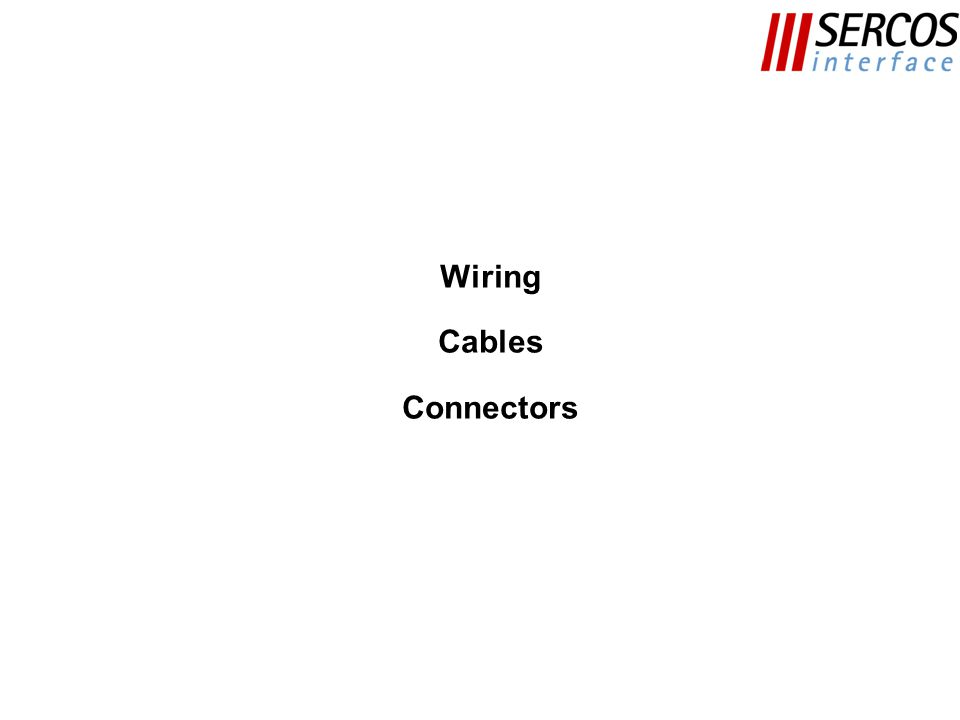 Wiring Cables Connectors