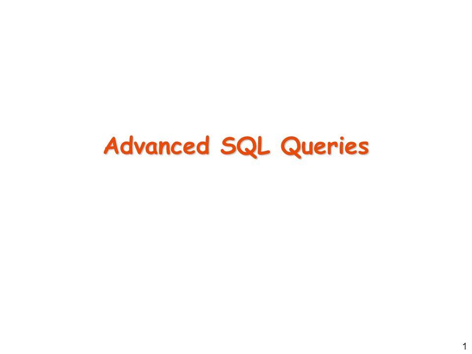 1 Advanced SQL Queries