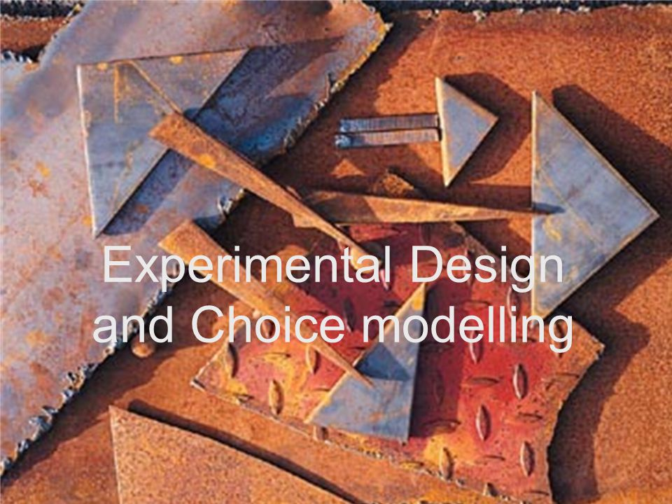 Experimental Design and Choice modelling