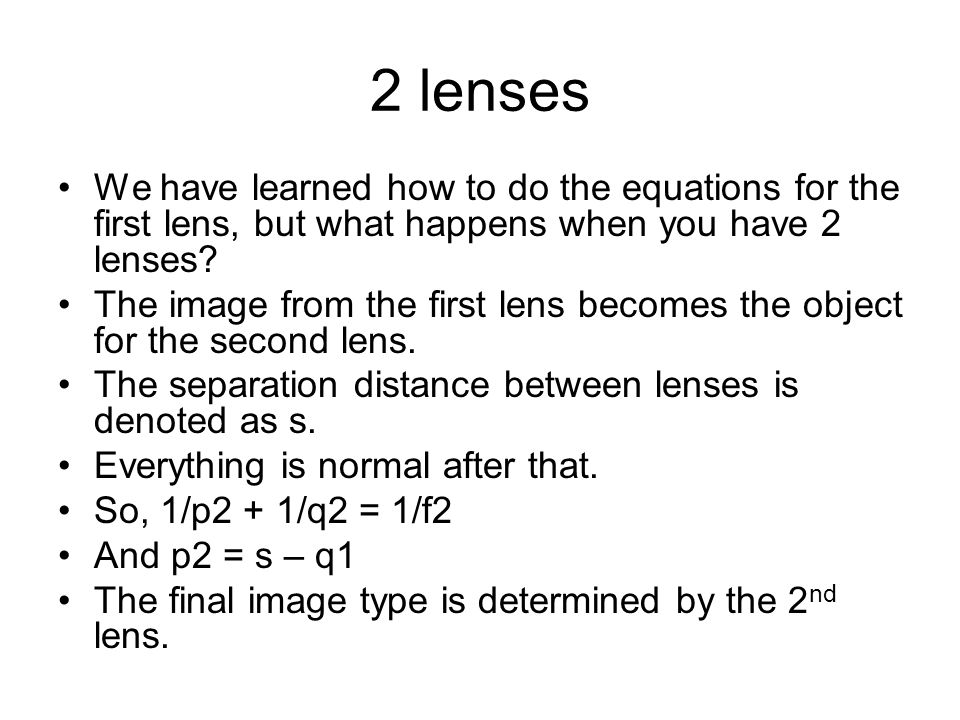 The math There is some math for using glasses.